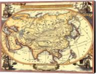 Small Nautical Map Of Asia Fine-Art Print