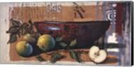 Coupe A Lotus Et Pomme Fine-Art Print