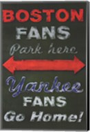Yankee Fans Go Home Wall Poster