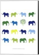Animal Sudoku in Blue IV Fine-Art Print