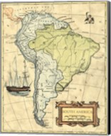 S.America Map Fine-Art Print
