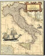 Italy Map Fine-Art Print