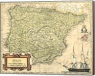 Spain Map Fine-Art Print