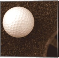 Sepia Golf Ball Study I Fine-Art Print