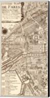 Plan de la Ville de Paris, 1715 (L) Fine-Art Print