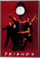 Friends (TV) Clock Red Fine-Art Print