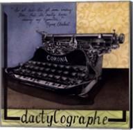 Dactylographe Fine-Art Print