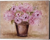 Classic Pink Roses And Hydrangeas Fine-Art Print