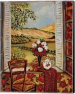 Cabbage Rose Wallpaper Fine-Art Print