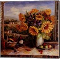 Sunflowers With Fruit And Wine II Fine-Art Print