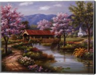 Covered Bridge in Spring Fine-Art Print
