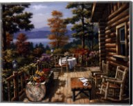 Log Cabin Porch Fine-Art Print
