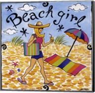 Beach Girl I Fine-Art Print