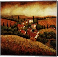 Tuscan Hillside Village Fine-Art Print