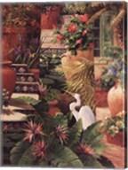 Floral Fractal With Egret Fine-Art Print