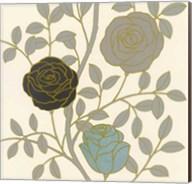 Rose Garden I Gold Fine-Art Print