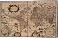Explorer's World, 1630, Blau Fine-Art Print