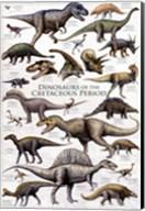Dinosaurs - Cretaceous Period Wall Poster