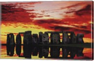 Stone Henge Reflections Wall Poster