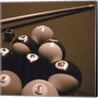 Pool Table II - Sepia Fine-Art Print