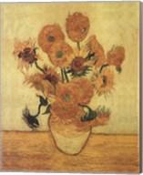 Sunflowers On Gold Fine-Art Print