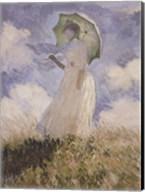 Sketch of Woman and Umbrella Fine-Art Print