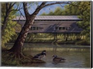 Covered Bridge With Ducks Fine-Art Print