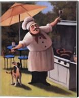 Barbecue Chef and Dog Fine-Art Print