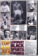 Legendary Black Sports Figures Wall Poster