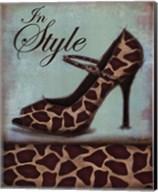 Giraffe Shoe - mini Fine-Art Print