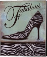 Zebra Shoe - mini Fine-Art Print