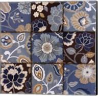 Patchwork Motif Blue Fine-Art Print