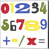 Kid's Room Numbers Fine-Art Print