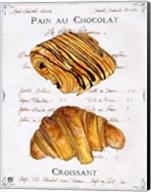 Pain au Chocolat et Croissant Fine-Art Print