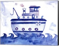 Blue Tugboat Fine-Art Print