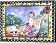 Mary and the Lamb Fine-Art Print