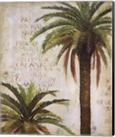 Palms and Scrolls I Fine-Art Print