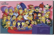 The Simpsons Cast on Couch Fine-Art Print