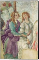 Detail of Venus and the Graces offering gifts to a young girl, 1486 Fine-Art Print
