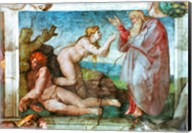 Sistine Chapel ceiling: Creation of eve, with four Ignudi, 1511 Fine-Art Print