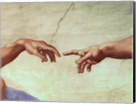 Hands of God and Adam, detail from The Creation of Adam, from the Sistine Ceiling, 1511 Fine-Art Print