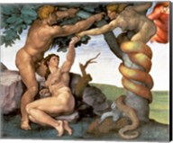 Sistine Chapel Ceiling (1508-12): The Fall of Man, 1510 (detail) Fine-Art Print