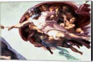 Sistine Chapel Ceiling: Creation of Adam, 1510 (detail) Fine-Art Print
