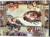 Sistine Chapel Ceiling: Creation of Adam, 1510 B Fine-Art Print