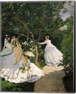 Women in the Garden, 1867 Fine-Art Print
