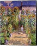 The Artist's Garden at Vetheuil, 1880 Fine-Art Print
