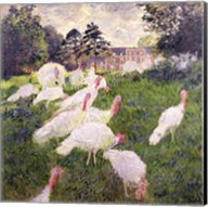 The Turkeys at the Chateau de Rottembourg, Montgeron, 1877 Fine-Art Print