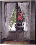 The Red Cape (Madame Monet) c.1870 Fine-Art Print