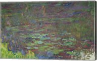 Waterlilies at Sunset, detail from the right hand side, 1915-26 Fine-Art Print