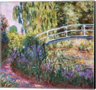The Japanese Bridge, Pond with Water Lilies, 1900 Fine-Art Print